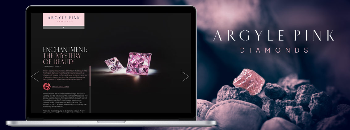 Argyle Pink Diamonds Website Portfolio